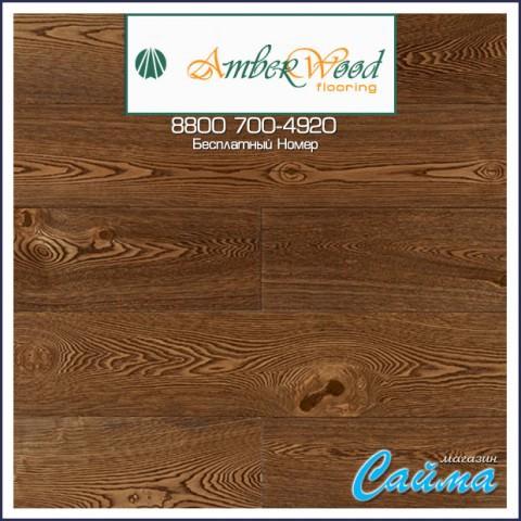 Массивная Доска Amber Wood Ясень Винтаж Браш Масло 18х120х300-1800