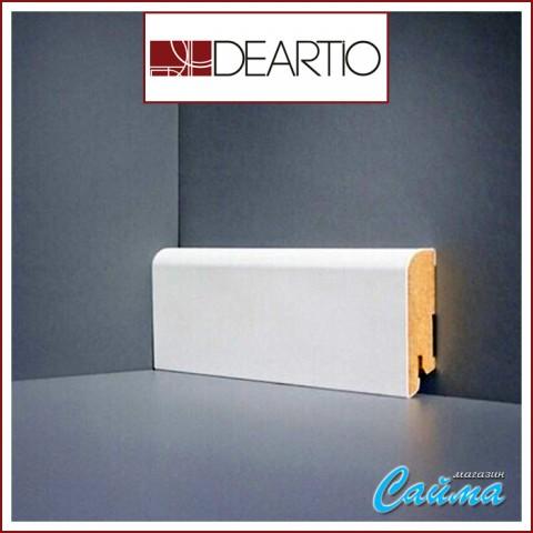 Белый плинтус МДФ Deartio U102-60 (16х60х2050)
