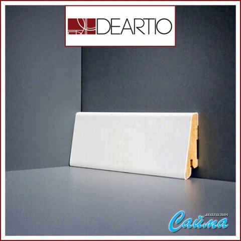 Белый плинтус МДФ Deartio U101-60 (16х60х2050)