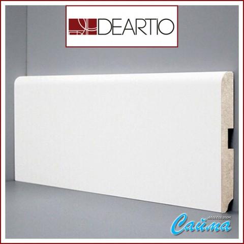 Белый плинтус МДФ Deartio U102-120 (16х120х2050)