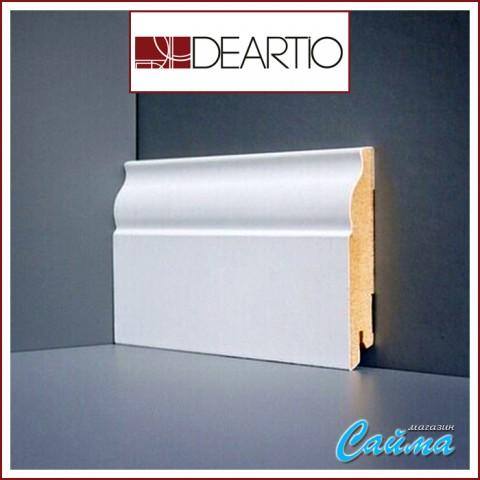 Белый плинтус МДФ Deartio U103-100 (16х100х2050)