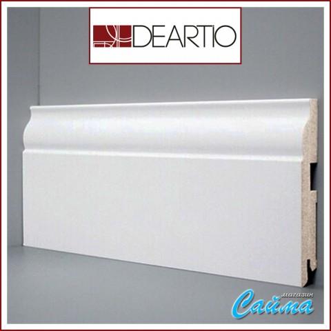 Белый плинтус МДФ Deartio U103-120 (16х120х2050)
