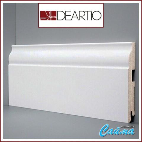 Белый плинтус МДФ Deartio U103-150 (16х150х2050)