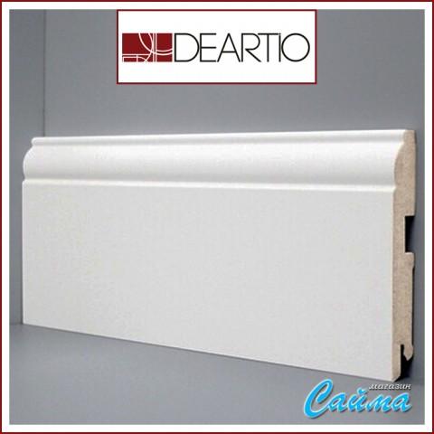 Белый плинтус МДФ Deartio U104-120 (16х120х2050)