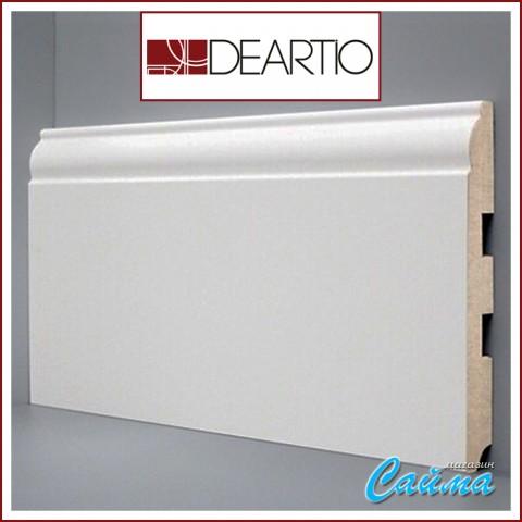 Белый плинтус МДФ Deartio U104-150 (16х150х2050)