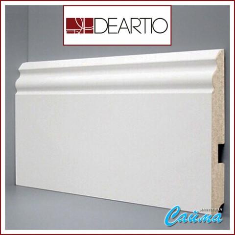Белый плинтус МДФ Deartio U105-150 (18х150х2050)