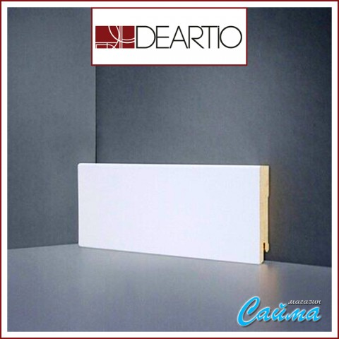 Белый плинтус МДФ Deartio U106-80 (16х80х2050)
